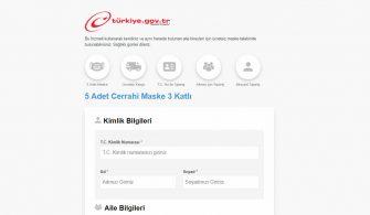 basvuru.turkiye.gov.tr – E-devlet üzerinden ücretsiz maske başvurusu